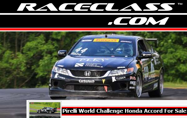 World Challenge Honda Accord Racing Car For Sale