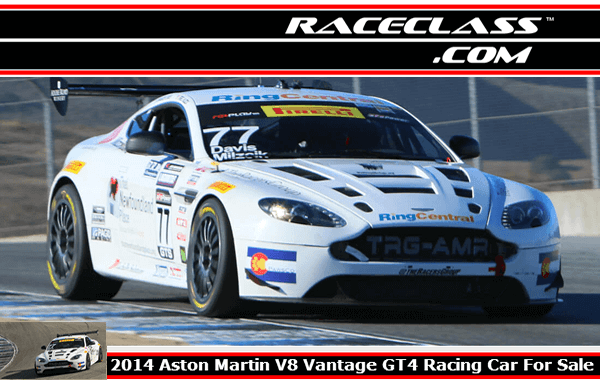 Aston Martin V8 Vantage Gt4 Racing Car For Sale Chassis 012